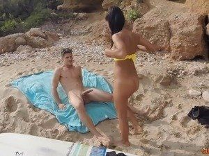 Han S. recommendet big boobs whore handjob dick on beach