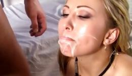 Lady L. reccomend breast whore lick penis load cumm on face