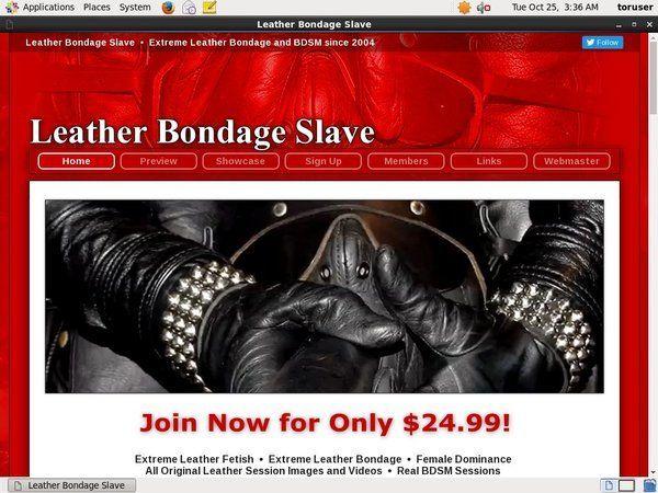 Leather bondage slave