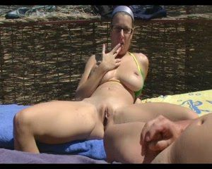 best of Beach cock milf masturbate italian on
