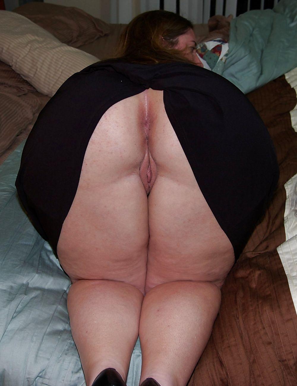 Naked chubby ass Fat Mature,